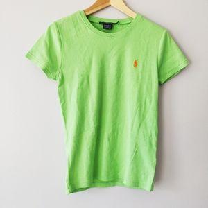 Ralph Lauren Sport Lime Green Logo Tee